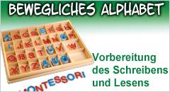 Bewegliches Alphabet mit Großbuchstaben