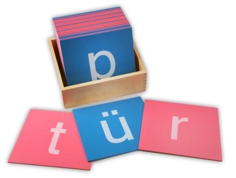 Details zu sandpapierbuch staben klein - montessori lernspielzeug
