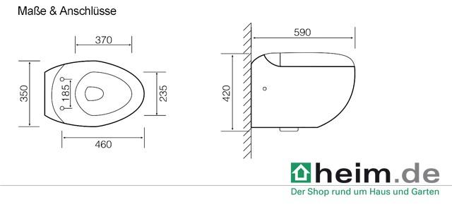 wand wc round mit absenkautomatik sitz ebay. Black Bedroom Furniture Sets. Home Design Ideas