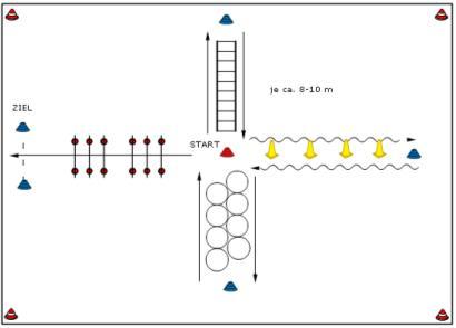 Sprinten und Koordination Übung