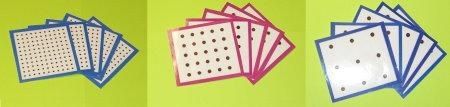 Il geopiano 11 x11 con schede per i compiti
