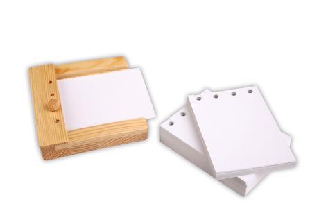 Blanko Einschubkarten für den Stöpselkasten