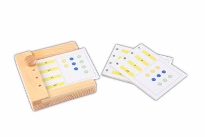 Menge und Zahl Zuordnung - Einschubkarten für den Stöpselkasten