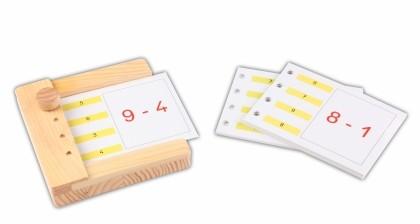 Rechnen im Zahlenraum bis 10 - Einschubkarten für den Stöpselkasten