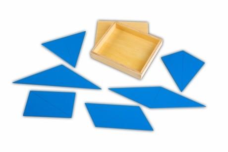 Blaue Dreiecke | Montessori Lernwelten - Der Shop für Montessori ...