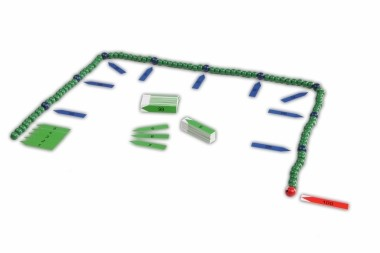 Hunderterkette mit Zahlenpfeilen