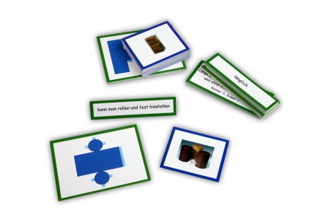 geometrische k rper zusatzmaterial montessori material sinnesmaterial. Black Bedroom Furniture Sets. Home Design Ideas