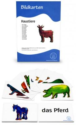 12 Bildkarten Haustiere