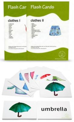 12 Bildkarten Englisch - Kleidung/clothes