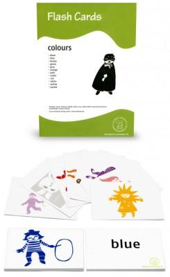 12 Bildkarten Englisch - Farben/colours