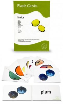 12 Bildkarten Englisch - Obst / fruits