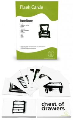 12 Bildkarten Englisch - Möbel / furniture