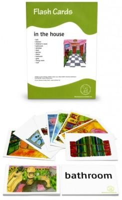 12 Bildkarten Englisch - Im Haus / in the house