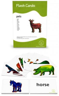 12 Bildkarten Englisch - Haustiere / pets