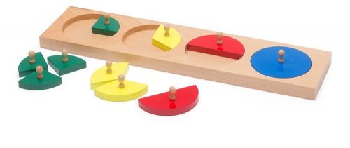Farbenkreise aus Holz