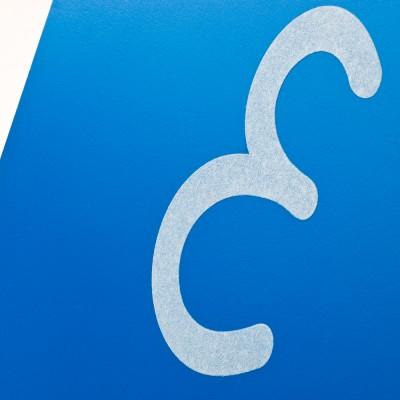 Sandpapierbuchstaben - Großbuchstaben Schreibschrift