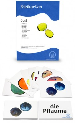 12 Bildkarten Obst