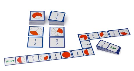 Domino didattico e memoria d'apprendimento sul tema delle frazioni.