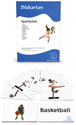 12 Bildkarten Sportarten