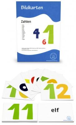 12 Bildkarten Zahlen