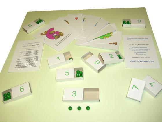 Zahlendosen zum Zählen, Zuordnen und Rechnen