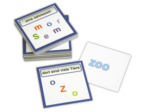 Purzelwörter mit 60 verschiedenen Wörtern und rückseitiger Selbstkontrolle
