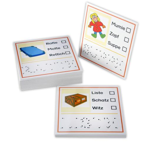Reimwörterkarten mit Bildern