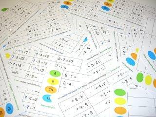 24 Stöpselkarten - Kleines Einmaleins